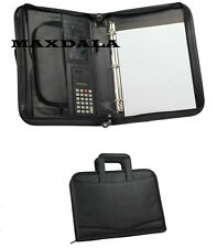 Zippered Padfolio Briefcase Binder, Notepad, Calculator Executive Organizer