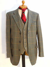 "Vintage BrookTaverner-Saxony Supreme Tweed Houndstooth Country Jacket-42""-107 cm"