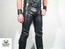 Nuevo 100% Real Pantalones De Cuero Leder Hosen Para Pantalón Fetiche Gay Jock Jeans Bondage
