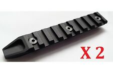 "Black 20mm Rail 4.5"" Picatinny X 2pcs for Airsoft URX4 RAS Rail System"