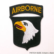"101st AIRBORNE ""Screaming Eagle"" Embroidered Iron-On Patch, Excellent- NEW #7M11"