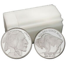 1/2 oz Indian Buffalo Design .999 Fine Silver Round --Tube of 20