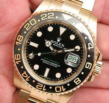 Rolex GMT MASTER II 116718 Mens Yellow Gold Black Dial 40MM Black Ceramic Bezel