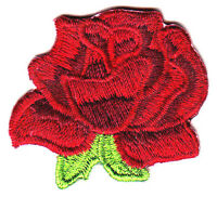 RED ROSE - FLOWERS - GARDENING - ROSES -  Iron On Embroidered Applique Patch