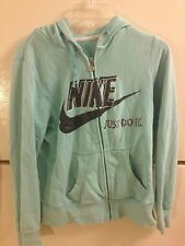 WOMENS NIKE ZIP UP HOODIE, SIZE M, (8-10). GREEN