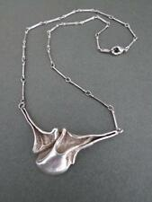 Vintage Danish Silver Modernist Necklace Mid Century