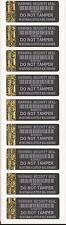 250 Tamper-Evident Warning Warranty Labels Security Stickers With Gold Hologram