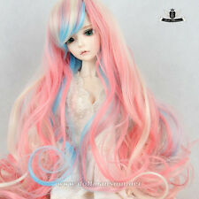 "7-8"" MSD Wig 1/4 BJD Wig Dollfie DREAM SOOM AOD Dod EID Wig Mix pink hair #121"