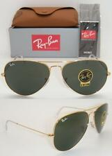 RAY-BAN AVIATOR LARGE RB 3026 L2846 62MM GOLD FRAME NATURAL GREEN G-15 LENS