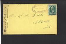 MIDLAND CITY, ILLINOIS COVER,1881. BANKNOTE. POSTMASTER CL. DEWITT CO.