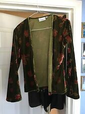 Hennes Collection Ladies L/S Velvet Lined Floral Jacket Size Small