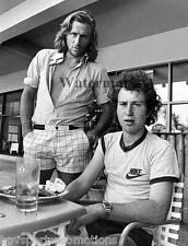BJORN BORG JOHN MCENROE 8X10 GLOSSY TENNIS PHOTO OLD SCHOOL