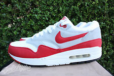 NIKE AIR MAX 1 QS 2009 SZ 10 WHITE SPORTS RED NEUTRAL GREY BLACK 378830 161