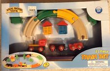 Real Wood Toys 21 Piece Train Set Ages 3+