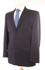 PIERRE CARDIN NAVY BLUE PINSTRIPE MEN'S SUIT JACKET 40S DRY-CLEANED