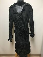 Walter Trench Coat Size large Walter Girl Crushed Nylon Black Jacket Women's