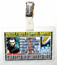 Aliens ID Badge US Colonial Marines Hicks Dwayne Cosplay Costume Prop Christmas