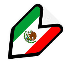 ## JDM DRIVER BADGE MEXICO MEXICAN Car Decal Flag not vinyl sticker ##