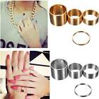 Set 4pz Anelli Donna Punk Above Knuckle Stacking Tip Fingers Top Midi Ring HOT