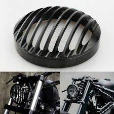 "5 3/4"" Black Headlight CNC Grill Bezel Cover For Harley XL Sportster 883 1200"
