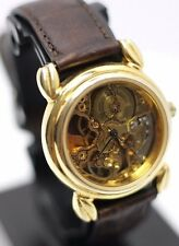 Vintage - Fossil Skeleton Hand Wind Mechanical Men's Wrist Watch - Gold