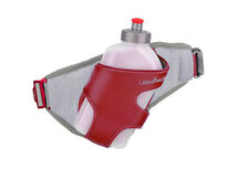 UltrAspire Twitch Hydration Belt & 16 oz. Water Bottle Red/Gray Running/Hiking