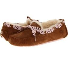 UGG DAKOTA SLIPPERS CHESTNUT PINK POLKA DOT SUEDE SHEEPSKIN SHEEPSKIN SOLD OUT 5