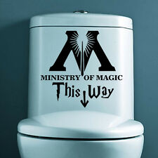 Ministry of Magic This Way Vinyl Sticker Toilet Seat DIY Wall Decals Home Decor