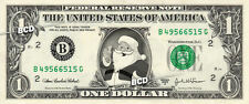 SANTA CLAUS on REAL Dollar Bill Cash Money St Nicholas Currency Merry Christmas