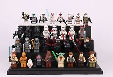 32 Sets Mini figure Star Wars Clone Trooper C-3PO Yoda Darth Vader Fits LEGO Toy