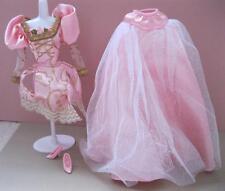 RAPUNZEL DISNEY PRINCESS 1997 Doll Pink BALL GOWN COSTUME DRESS-skirt top shoes