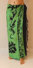 NEW UNISEX GREEN GECKO SARONG BEACH POOL WRAP SCARF COVER UP PAREO BNIP / sa025