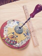 J CHEIN & CO - Vintage Metal SPINNING TOP - Copyright WALT DISNEY PRODUCTIONS