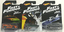 Hot Wheels Fast And Furious 7 Collection 3 Cars/ SUPRA,MUSTANG & CHEVELLE NEW!!!