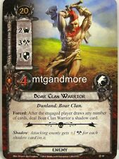 Lord of the Rings LCG  - 1x Boar Clan Warrior  #018 - The Dunland Trap