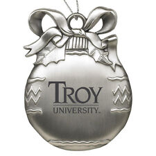Troy University - Pewter Christmas Tree Ornament - Silver