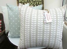 Housse de coussin made in orla kiely tiny tige cloud pebble grey Multistem pâques,