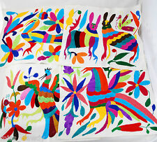 "*Set of 4* Mexico Otomi Table Placemat Mexican hand embroidered fabric 14"" x 17"""