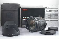 *Near Mint* Sigma 17-50mm F2.8 EX DC OS HSM for Nikon w/Box,Case,Hood from Japan