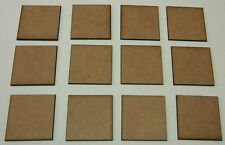 2mm MDF bases 40mm x 40mm pack of 12 for Swordpoint, DBMM, FOG or DBA