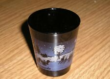 Minnesota Shot Glass - Black Glass