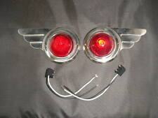 travel trailer vintage Deco Wing Lights 1 Pair bullet lens steel markers wiring