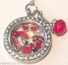 ❤️18KGP FLOATING CHARM Locket CHAIN LOT ~ BEAUTY MAKEUP ~ Will FIT Memory OWL❤️