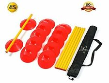 Agility Ladder Speed Training Equipment: 6 Poles, 12 Cones, Carry Case & Bonus