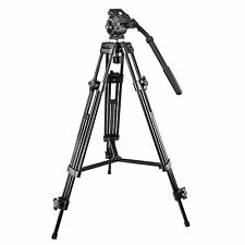 Weifeng WF-717 1.5m Professional Heavy Duty Video Camcorder Tripod + Fluid Head