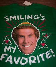 ELF WILL FARREL SMILING'S MY FAVORITE CHRISTMAS T-Shirt XL NEW w/ TAG