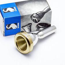 Stork T1 Light Weight Small Shank 24K Gold Rim & Cup Trombone Mouthpiece