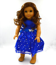 new Handmade fashion clothes dress for 18inch American girl doll party b84