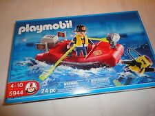 NIB Playmobil 5944 Fireman Rescue Team with Diver 24 Pieces NEW