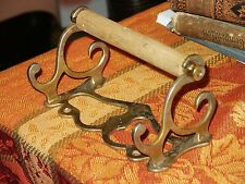 Vintage Bathroom Toilet Tissue Paper Holder Victorian Nickel Brass BEAUTiFUL